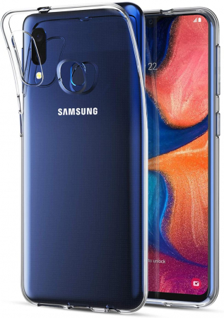 Husa Samsung Galaxy A20E Silicon Matte TPU Extra Slim – transparent [0]