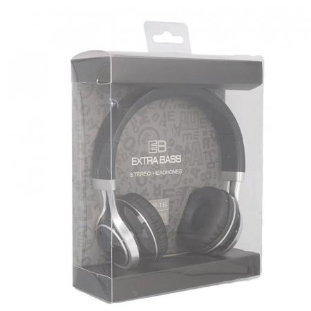 Casti Audio Extra Bass EP-16 cu microfon incorporat - negru7