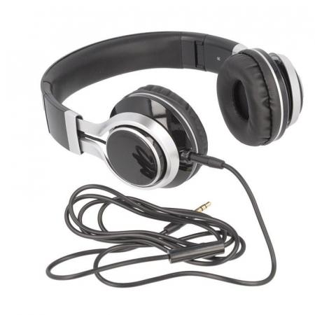 Casti Audio Extra Bass EP-16 cu microfon incorporat - negru5