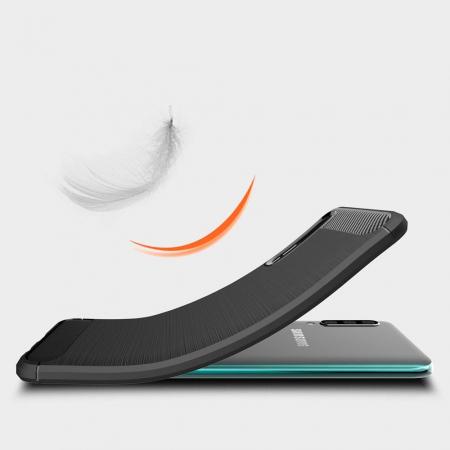 Husa Samsung Galaxy A50 - TPU Carbon Fibre Brushed - albastru [1]