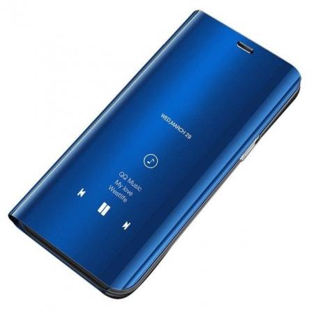 Husa Huawei P30 Lite – Flip Clear View – Albastru [0]