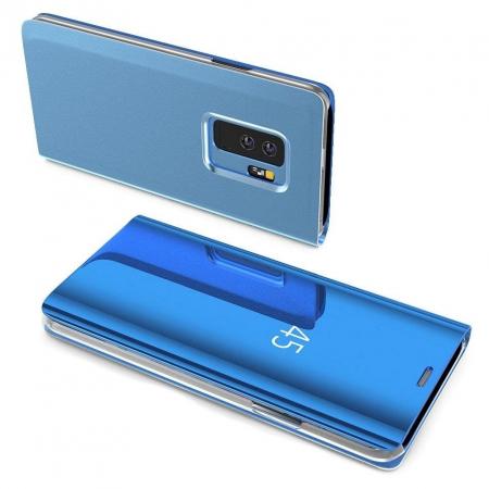 Husa Huawei P30 Lite – Flip Clear View – Albastru [1]