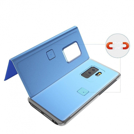 Husa Huawei P30 Lite – Flip Clear View – Albastru [3]