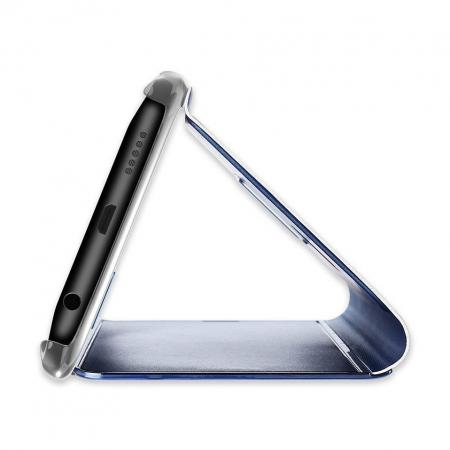 Husa Huawei P30 Lite – Flip Clear View – Albastru [4]