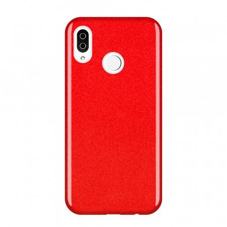 Husa Samsung A50 Shiny TPU Sclipici – rosu0