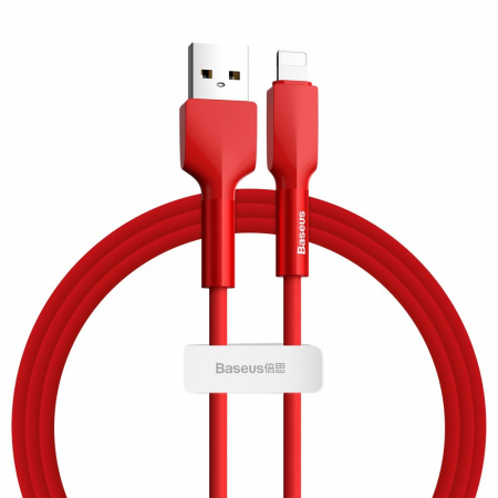 Cablu de date Lightning Baseus-rosu 2.4A [1]