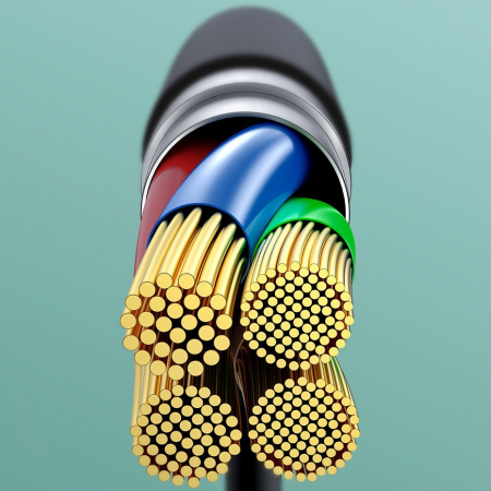 Cablu de date Lightning Baseus-rosu 2.4A [6]
