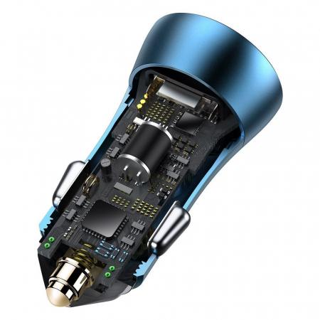 Incarcator auto Baseus Golden Contactor Pro-albastru [4]
