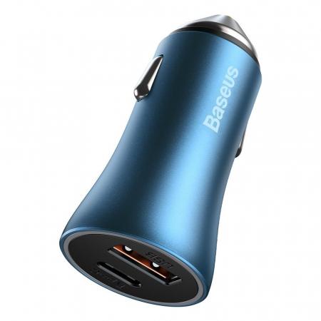 Incarcator auto Baseus Golden Contactor Pro-albastru [1]