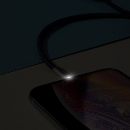 Cablu de date Lightning Baseus Torch-negru cu gri 2.4A [5]