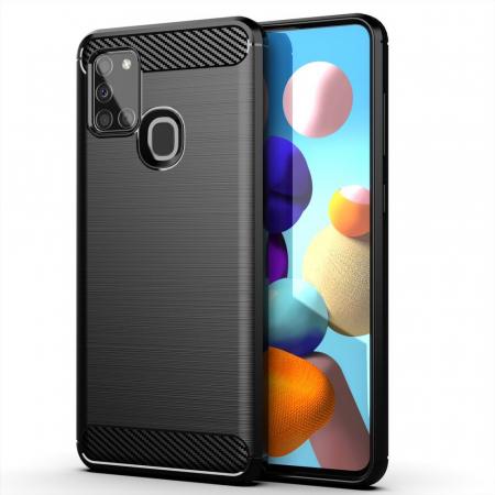 Husa Samsung Galaxy A21S - Tpu Carbon Fibre Brushed - negru [0]