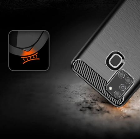 Husa Samsung Galaxy A21S - Tpu Carbon Fibre Brushed - negru [4]