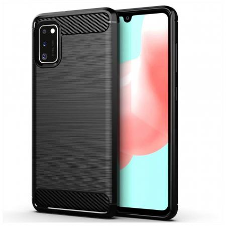 Husa Samsung Galaxy A41 - Tpu Carbon Fibre Brushed - negru [0]