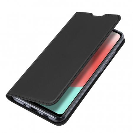 Husa flip Samsung Galaxy A41 - Dux Ducis din piele eco - albastru [3]