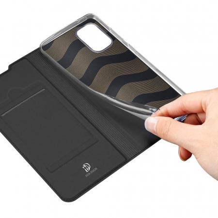 Husa flip Samsung Galaxy A41 - Dux Ducis din piele eco - albastru [5]