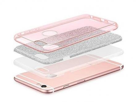 Husa Samsung A50 Shiny TPU Sclipici – Roz degrade2