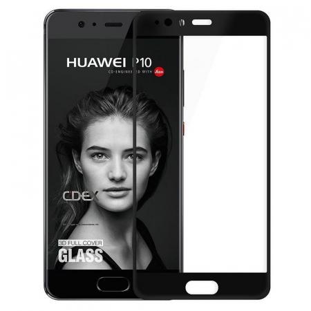 Folie Sticla Securizata Full Screen Huawei P10  - negru0