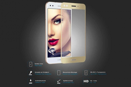 Folie Sticla Securizata Full Screen Huawei P9 Lite Mini 2017 - gold4