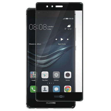 Folie Sticla Securizata Full Screen Soft Edge Huawei P9 - negru [0]