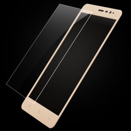 Folie Sticla Securizata Leuno Full Screen Xiaomi Redmi Note 3 Pro Special Edition - gold3