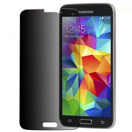 Folie Sticla Securizata Privacy Samsung S5 - negru0