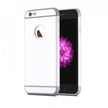 Husa 3 in 1 iPhone 6 / iPhone 6S - alb0