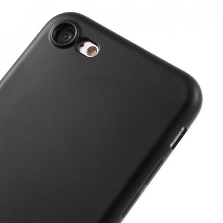 Husa iPhone 7 / iPhone8  Matte Soft TPU - negru3