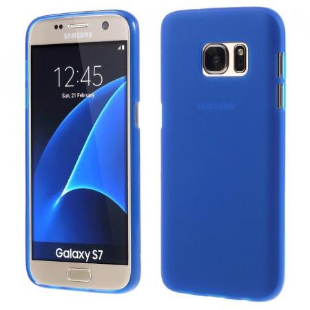 Husa Color Soft TPU Cover Samsung Galaxy S7 - albastra [0]