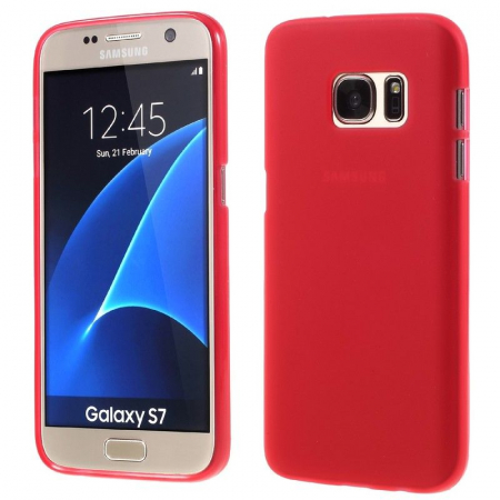 Husa Color Soft TPU Cover Samsung Galaxy S7 - rosu0