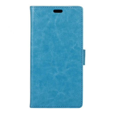 Husa  Samsung Galaxy A5 2017 Crazy Horse flip din piele eco - albastru [0]