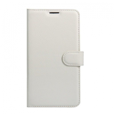 Husa flip din piele eco Crazy Horse Vodafone Smart N8 - alb0