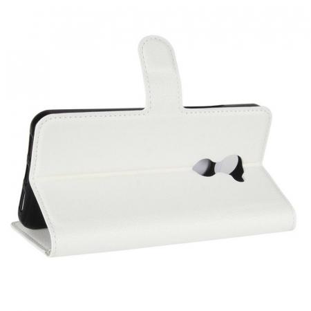 Husa flip din piele eco Crazy Horse Vodafone Smart N8 - alb3