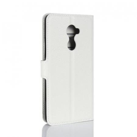 Husa flip din piele eco Crazy Horse Vodafone Smart N8 - alb2