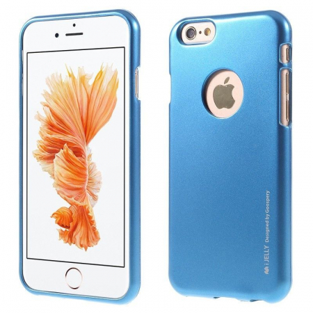 Husa iPhone 6 / iPhone 6S Goospery i JELLY - albastru1