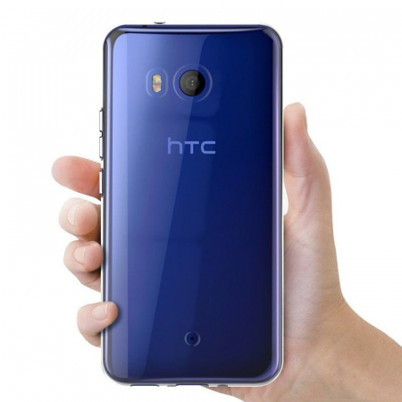 Husa HTC U11 silicon TPU extra slim 0.5 mm - transparent2