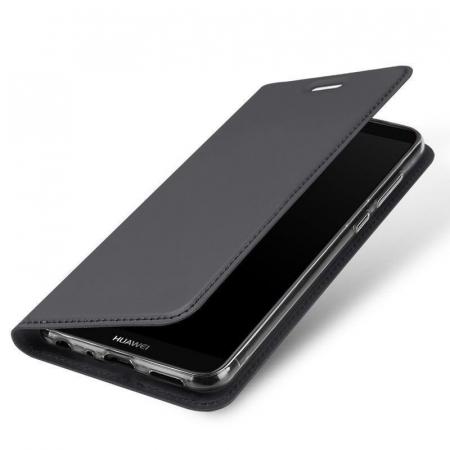 Husa   Huawei P Smart / Enjoy 7S  Dux Ducis din piele eco - grey0