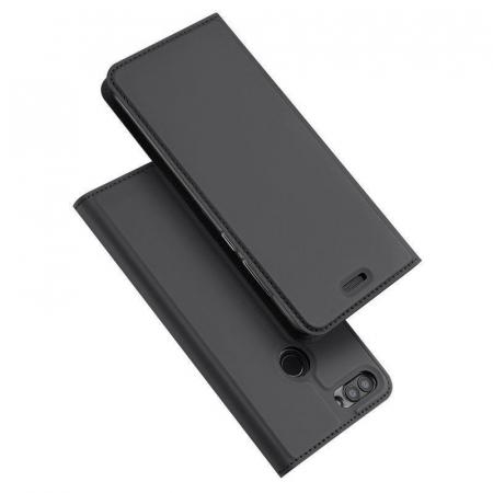 Husa   Huawei P Smart / Enjoy 7S  Dux Ducis din piele eco - grey1