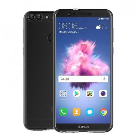 Husa   Huawei   P Smart / Enjoy 7S  Silicon TPU 360 grade ( fata-spate ) - transparent7