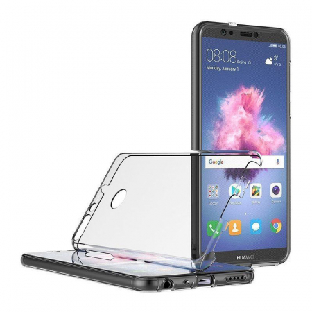 Husa   Huawei   P Smart / Enjoy 7S  Silicon TPU 360 grade ( fata-spate ) - transparent5