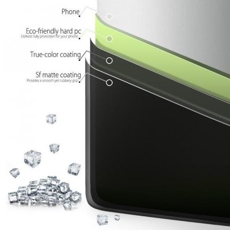 Husa  Huawei P10 Plastic Cauciucat - negru5