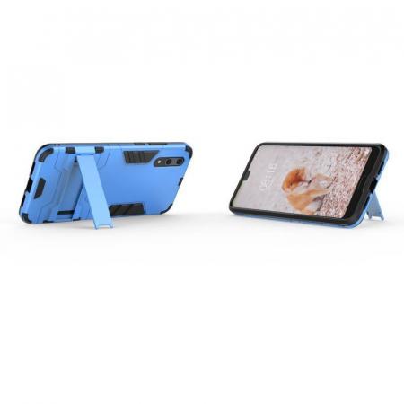 Husa   Huawei P20  Hybrid Stand - albastru4