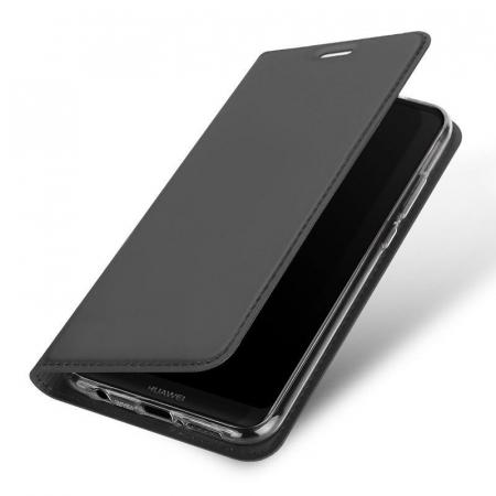 Husa  Huawei P20 lite Dux Ducis din piele eco - grey1