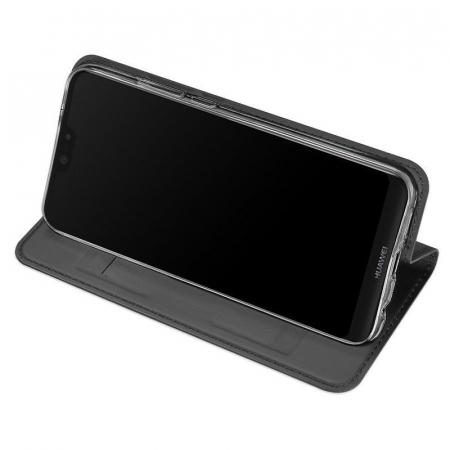 Husa  Huawei P20 lite Dux Ducis din piele eco - grey4