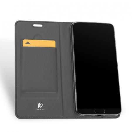 Husa  Huawei P20 Dux Ducis din piele eco - negru3