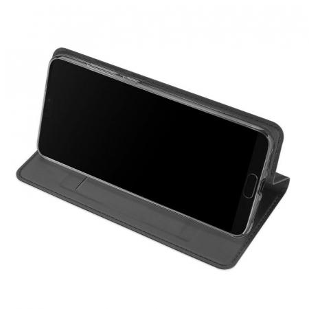 Husa  Huawei P20 Dux Ducis din piele eco - negru2