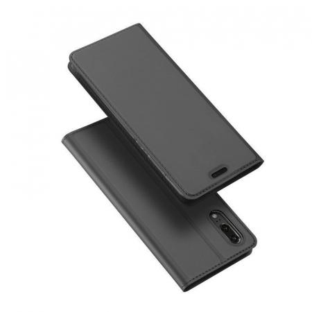 Husa  Huawei P20 Dux Ducis din piele eco - negru1