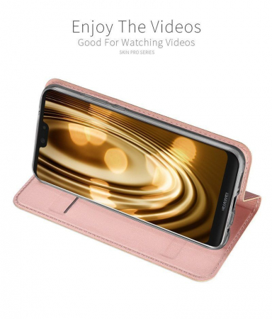 Husa  Huawei P20 lite Dux Ducis din piele eco - rose gold3