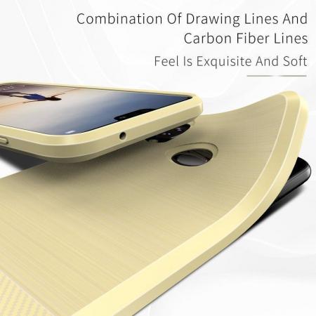 Husa Huawei   P20 lite Dux Ducis Mojo Case Silicon - gold3