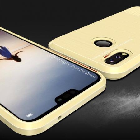 Husa Huawei   P20 lite Dux Ducis Mojo Case Silicon - gold5