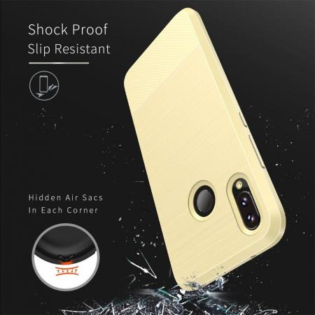 Husa Huawei   P20 lite Dux Ducis Mojo Case Silicon - gold4